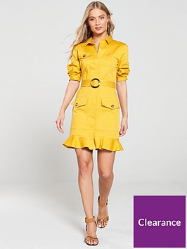 river-island-belted-shirt-dress-yellow
