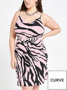 ri-plus-ri-plus-zebra-print-belted-slip-dress-pink