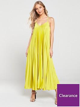 river-island-pleated-maxi-dress-yellow