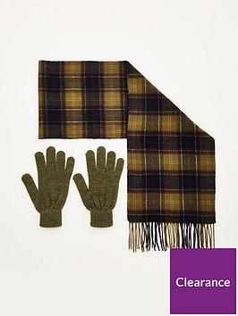 barbour-scarf-and-glove-gift-set-olive