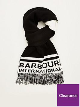 barbour-international-fleet-knit-scarf-blackwhite