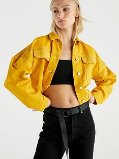 river-island-cropped-denim-jacket-yellow