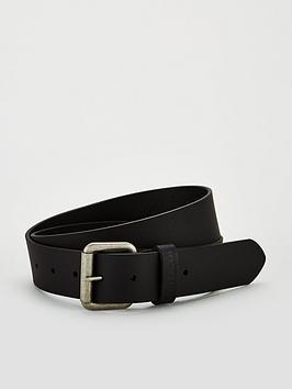 Barbour Barbour Matte Leather Belt - Black Picture