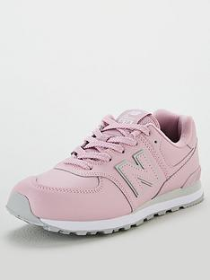new-balance-574-junior-trainers-light-pink