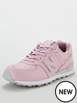 new-balance-574-junior-trainers-light-pink
