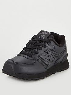 new-balance-574-childrens-trainers-black