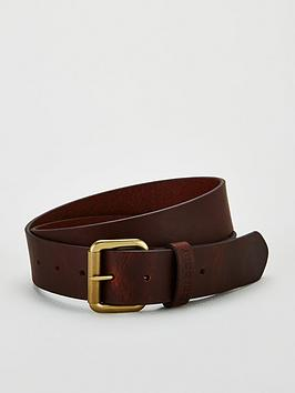 Barbour Barbour Matte Leather Belt - Brown Picture