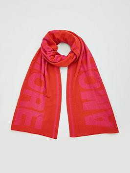 V by Very V By Very Oversized Slogan Scarf 'Amore' Picture