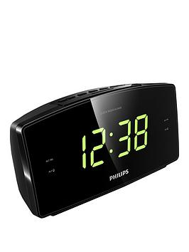 Philips   Aj3400 Alarm Clock Radio: Dual Alarm - Fm Digital Tuner - Compact Design - Big Display