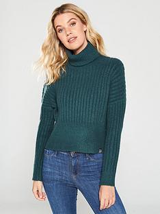 superdry-dahlia-roll-neck-jumper-green