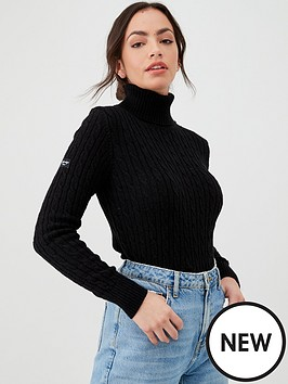 superdry-croyde-cable-roll-neck-black