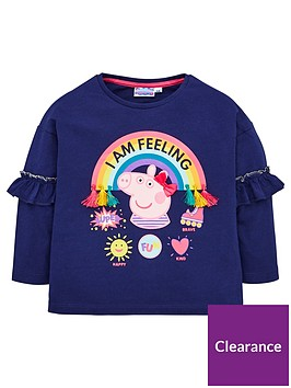 peppa-pig-toddler-girls-rainbow-frill-top-navy