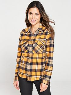 superdry-bailey-western-check-shirt-yellow