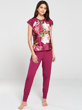 b-by-ted-baker-serenity-jersey-short-sleeve-pyjama-top-pink