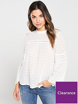 superdry-taylor-broderie-top-cream