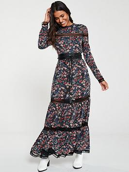 Superdry Superdry Skylar Lace Insert Maxi Dress - Floral Picture