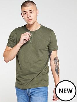 v-by-very-henley-slub-t-shirt-khaki