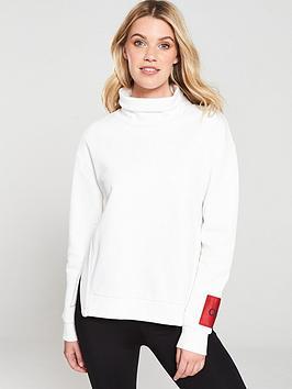 HUGO Hugo Roll Neck Sweatshirt -  Natural/Cream Picture