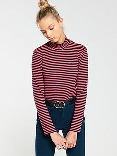 tommy-jeans-high-neck-long-sleeve-top-multi