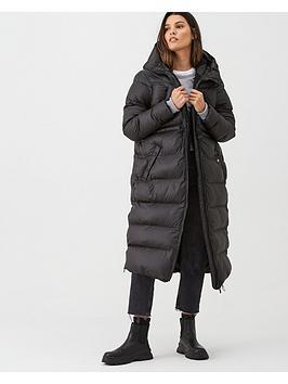 hunter-original-long-padded-coat-black