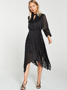 v-by-very-plisse-polka-dot-wrap-midaxi-dress-black