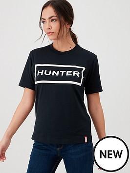 hunter-original-t-shirt-black-white
