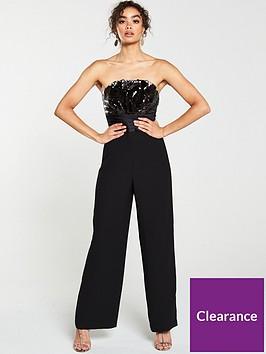 v-by-very-bandeau-reversible-sequin-jumpsuit-black
