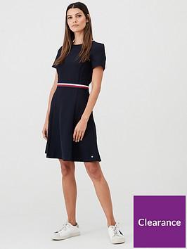 tommy-hilfiger-britt-short-sleeve-dress-navy