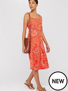 monsoon-misty-ecovero-print-midi-dress-orange
