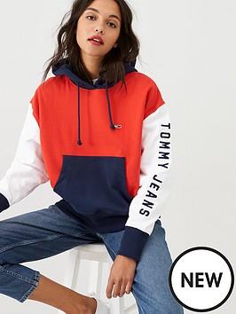 tommy-jeans-contrast-sleeve-logo-hoodienbsp--multi