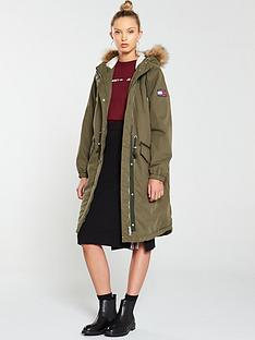 tommy-jeans-cotton-hooded-parka-olive