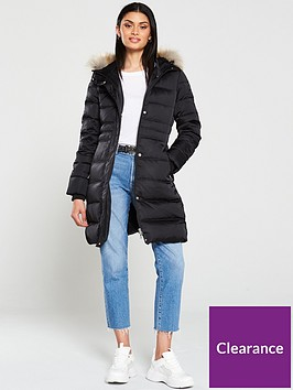 calvin-klein-jeans-midweight-down-long-nylon-padded-jacket-black