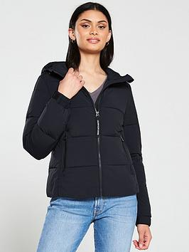 Calvin Klein Jeans   Stretch Nylon Padded Jacket - Black