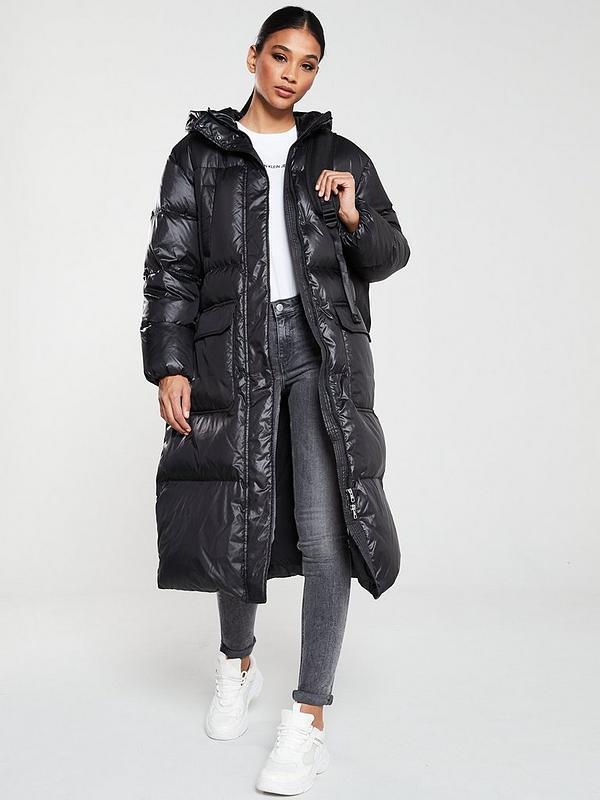 Calvin Klein Jeans Hooded Long Down