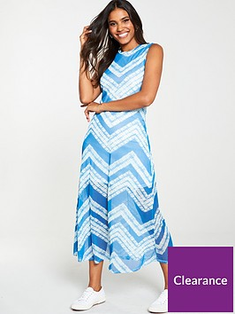 v-by-very-mesh-tie-dye-midi-dress-blue