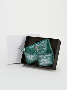 kurt-geiger-london-faux-crocodile-pouch-gift-set-teal