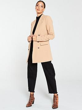 V by Very V By Very Longline Military Jacket - Camel Picture