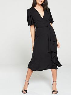 v-by-very-vienna-wrap-frill-midi-dress-black