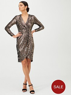 gina-bacconi-leopard-sequin-long-sleeve-dress-browngold