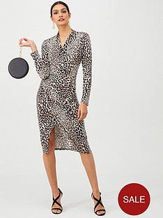 gina-bacconi-animal-print-wrap-dress-blackleopard
