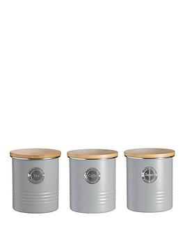 Typhoon Living Tea, Coffee And Sugar Storage Canisters &Ndash; Grey