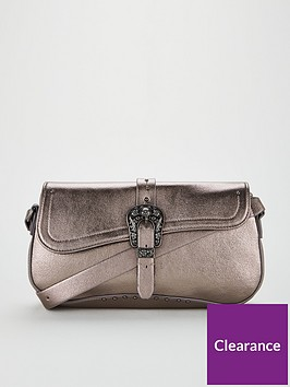 v-by-very-carli-western-buckle-detail-shoulder-bag-pewter