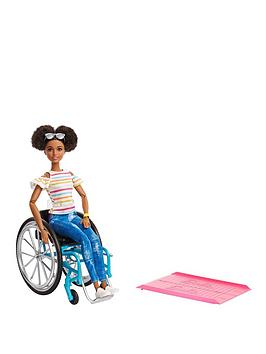 Barbie Barbie Doll With Wheelchair &Amp; Ramp Picture