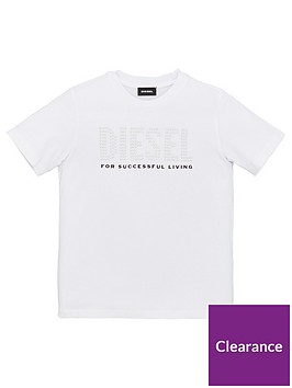 diesel-girls-short-sleeve-embellished-logo-t-shirt-white