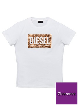 diesel-girls-short-sleeve-metallic-logo-t-shirt-white