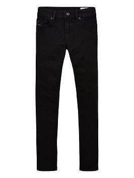 Diesel Diesel Boys Sleenker Skinny Jeans - Black Picture