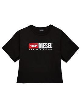 diesel-girls-short-sleeve-boxy-crop-t-shirt-black