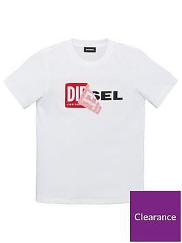 diesel-boys-short-sleeve-double-logo-t-shirt-white