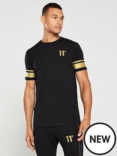 11-degrees-double-stripe-t-shirt-black
