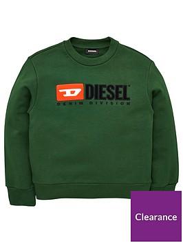 diesel-boys-crew-logo-sweatshirt-green